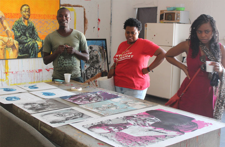 Artist Bambo Sibiya, a visible contemporary art voice in South Africa