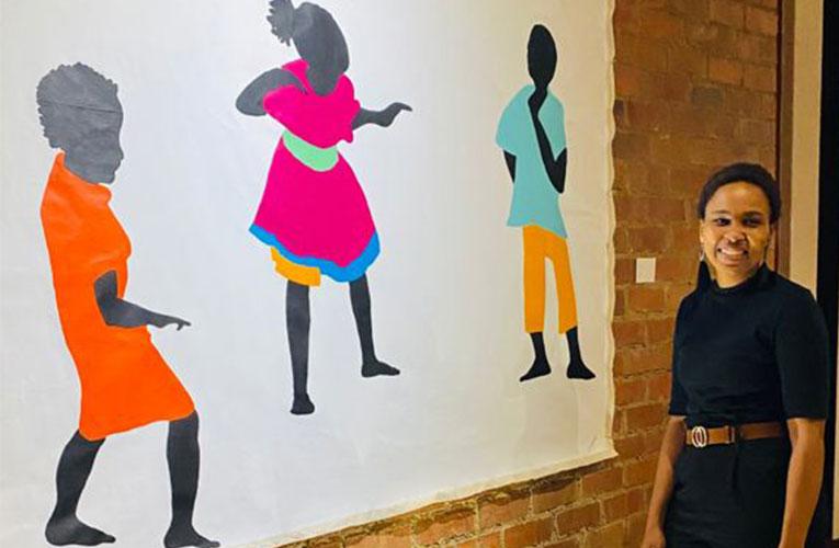Zanele Montle the inaugural winner of WOMXN TO WATCH award paints ordinary women into existence