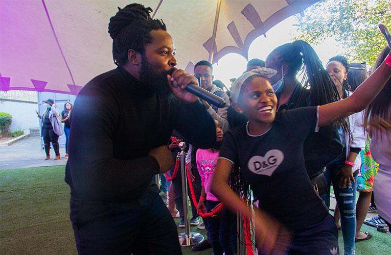 'Inkabi' Big Zulu drives those celebrating Africa Day at Windybrow to dance wild