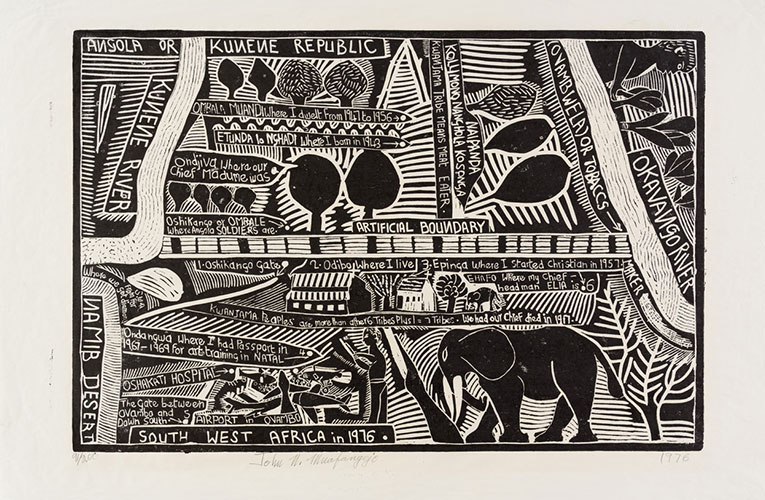 Strauss &Co sets new world record for linocut by Namibian artists John Muafangejo