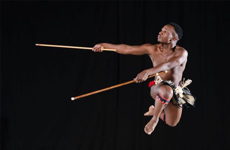 Young choreographers Oscar Buthelezi and Sunnyboy Motau climb another stage at Moving Into Dance in Newtown, Johannesburg