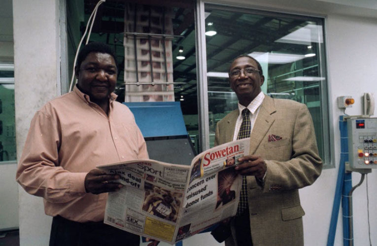 How South African editor Aggrey Klaaste put himself on the line with his contrarian idea