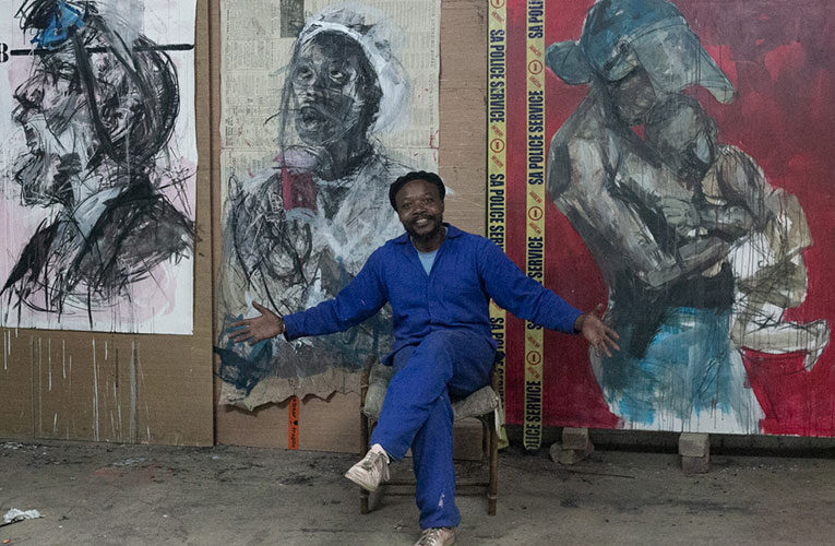 Artist Dathini Mzayiya whose art tackles issues surrounding vaccine hesitance looks forward to participating at Johannesburg Open Studios